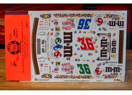 #36 M&M's Debut Ernie Irvan 1998 Slixx