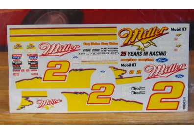 # 2 Miller 25 Years in Racing Rusty Wallace 1996