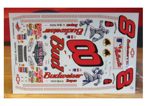# 8 Budweiser MLB All Star 2001 Dale Earnhardt Jr Wetworks