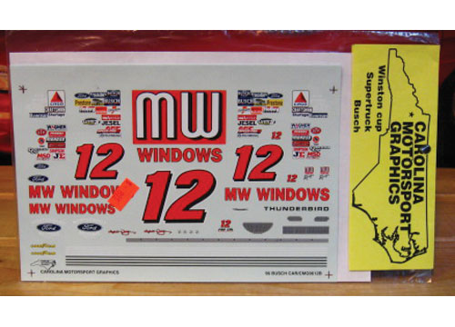 #12 MW Windows Michael Waltrip 1996