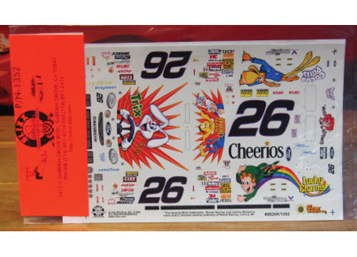 #26 Trix/Cheerios Johnny Benson 1998 Slixx