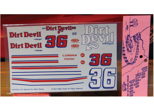 #36 Dirt Devil Kenny Wallace Blue Ridge