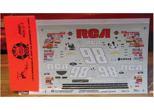 #98 RCA Jeremy Mayfield 1996 Slixx