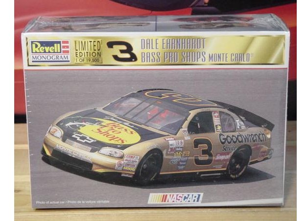 # 3 Bass Pro Dale Earnhardt Revell Kit Sealed