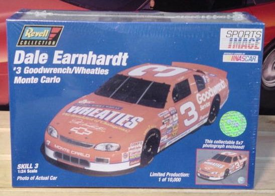 # 3 Wheaties Dale Earnhardt Revell Racing Reflections Kit Sealed