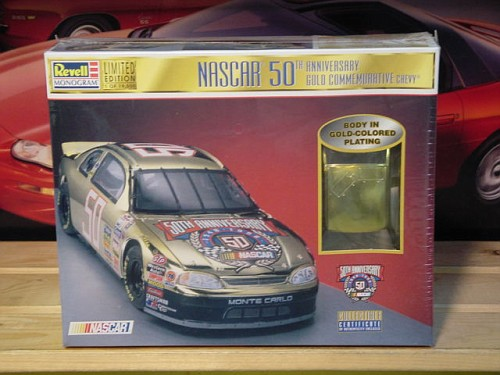 #50 Nascar 50th Gold Monte Carlo Revell Kit Sealed