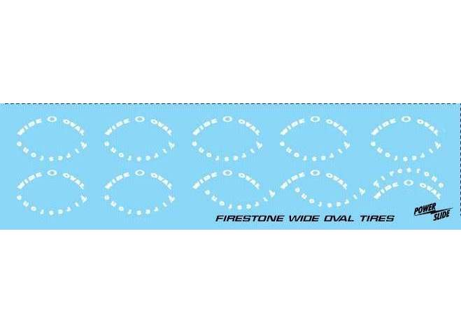 Firestone Wide Oval Street Car Tire Decals
