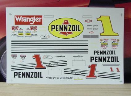Automotive Steve Parks Pennzoil # 1 Monte Carlo Decals