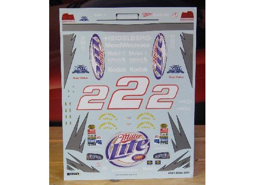 # 2 Miller Lite Rusty Wallace 2005 Dodge Charger Wetworks
