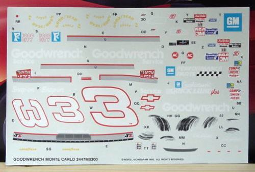 # 3 Goodwrench Dale Earnhardt 1995 Monogram