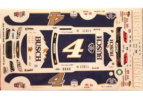 Kevin Harvick 4 Shr Stewart Haas Printed Vinyl Decal: # 4 Busch Darlington Kevin Harvick 2016 Ace Model Car